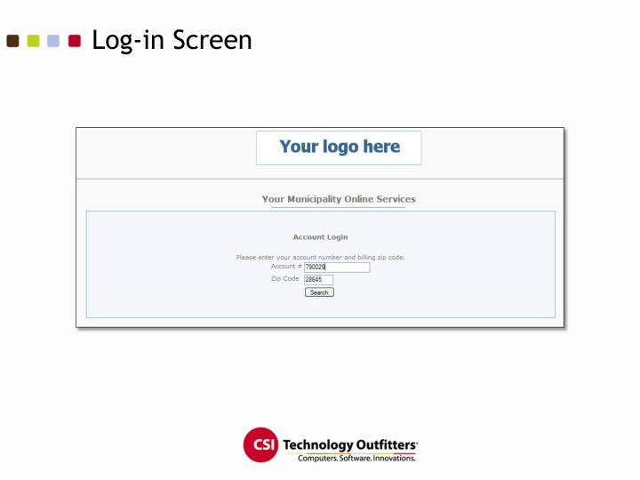 Log-in Screen