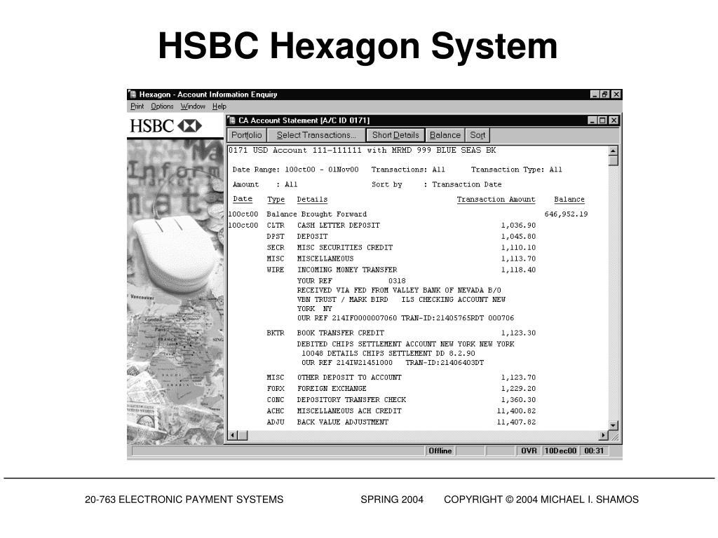 HSBC Hexagon System