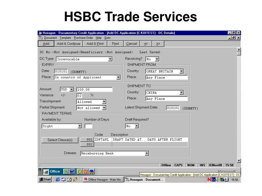HSBC Trade Services