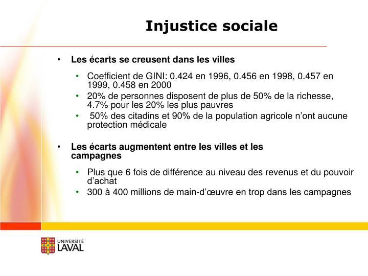 Injustice sociale