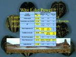 why lake powell