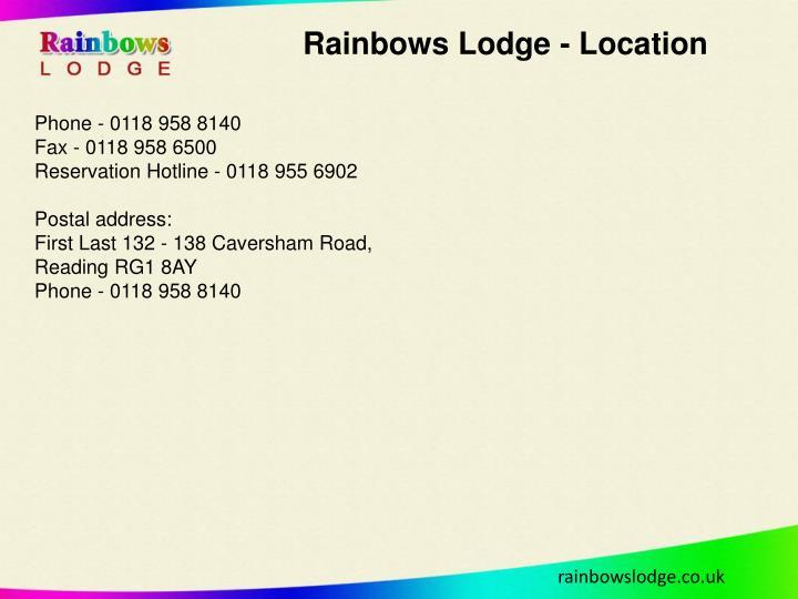 Rainbows Lodge - Location
