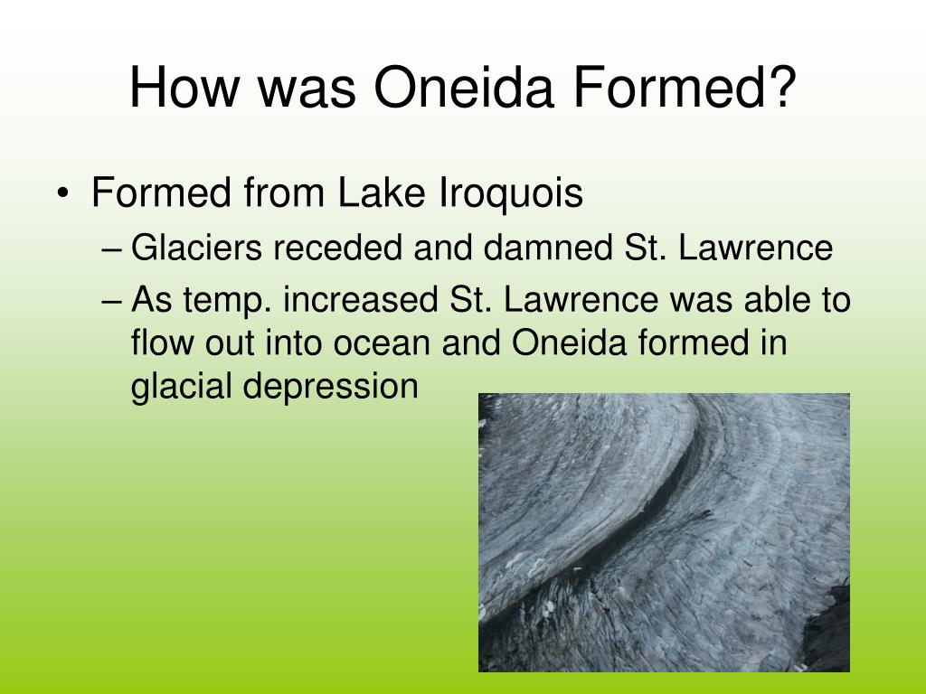 How was Oneida Formed?