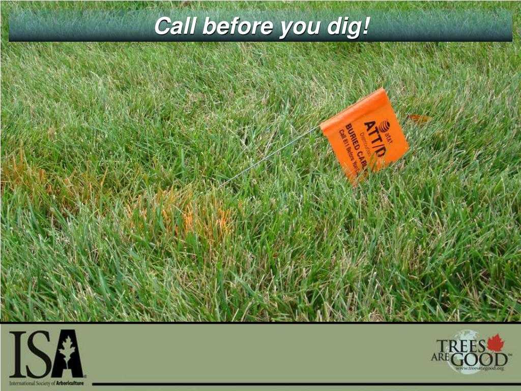 Call before you dig!