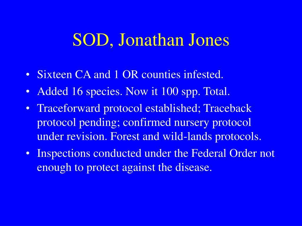 SOD, Jonathan Jones