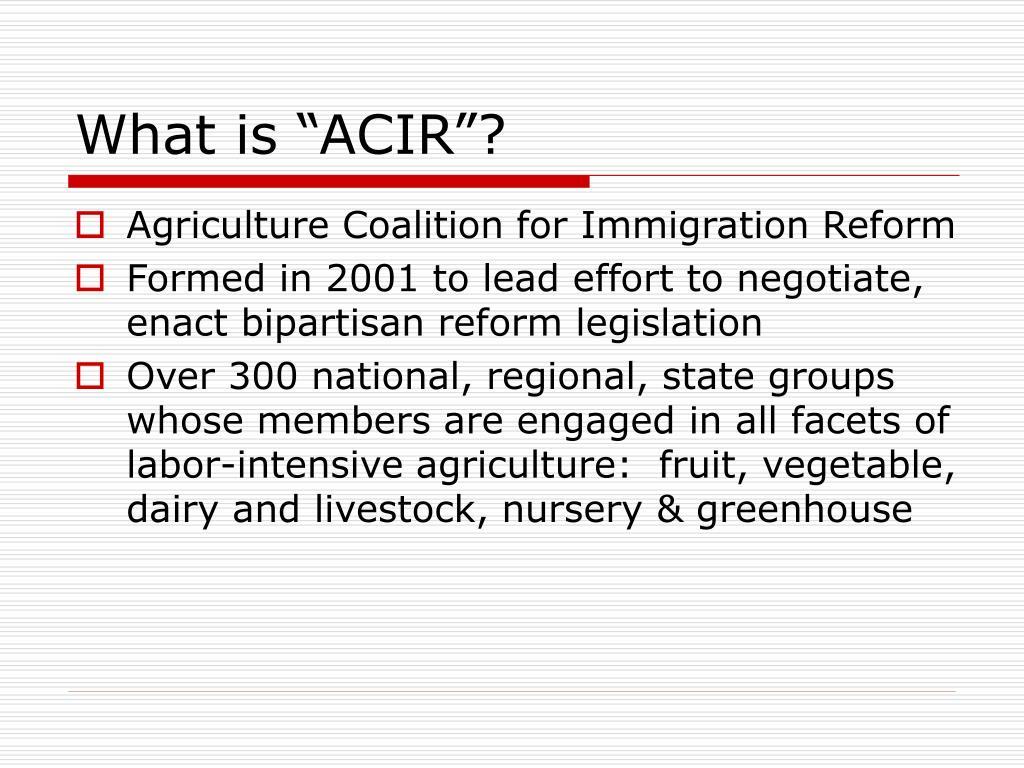 "What is ""ACIR""?"