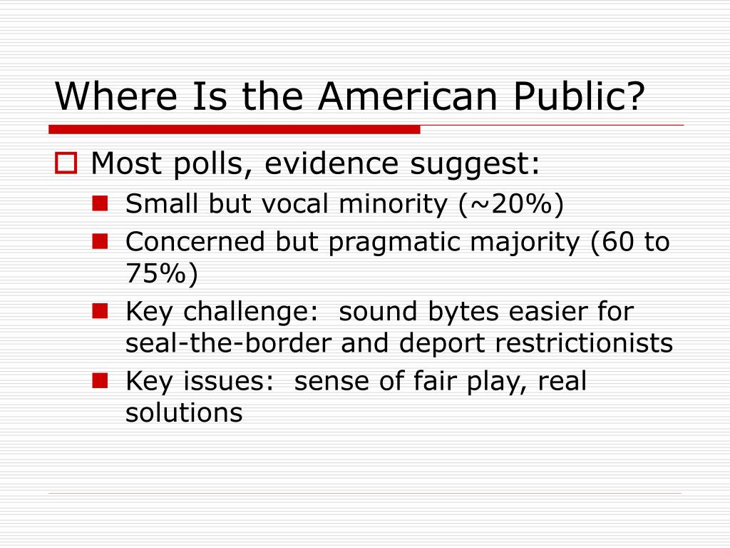 Where Is the American Public?