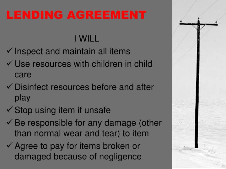 LENDING AGREEMENT