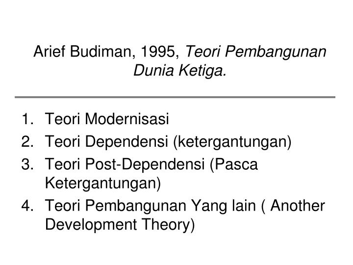 Arief Budiman, 1995,