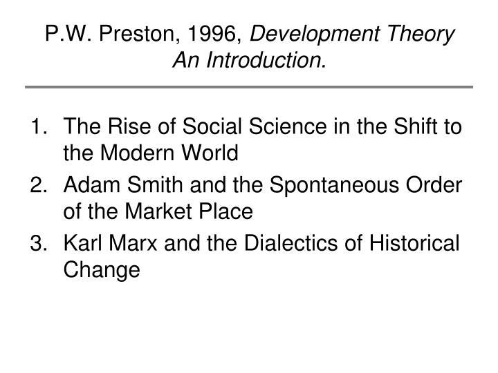 P.W. Preston, 1996,