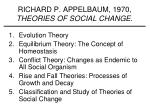 richard p appelbaum 1970 theories of social change