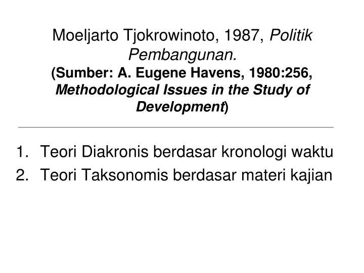 Moeljarto Tjokrowinoto, 1987,