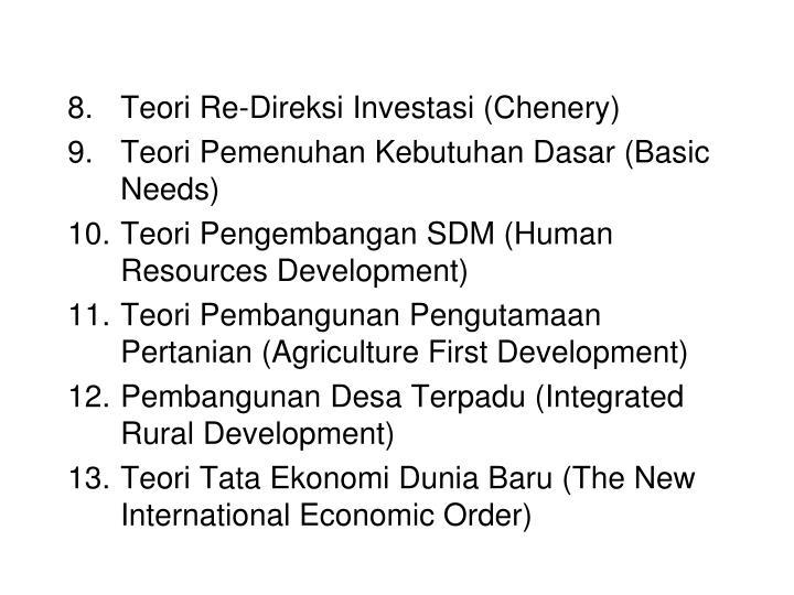 Teori Re-Direksi Investasi (Chenery)