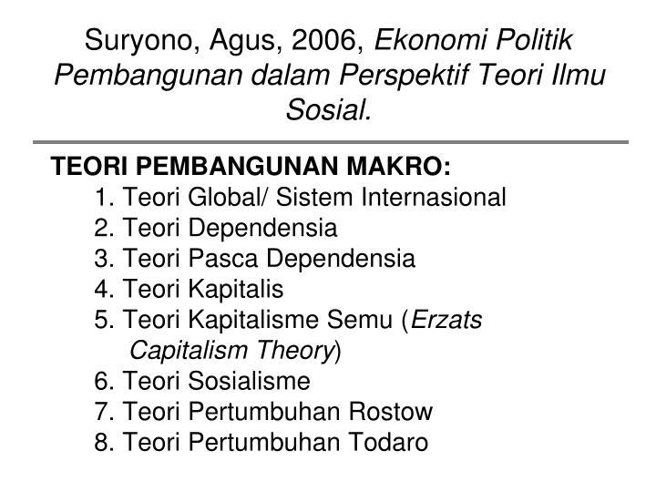 Suryono, Agus, 2006,