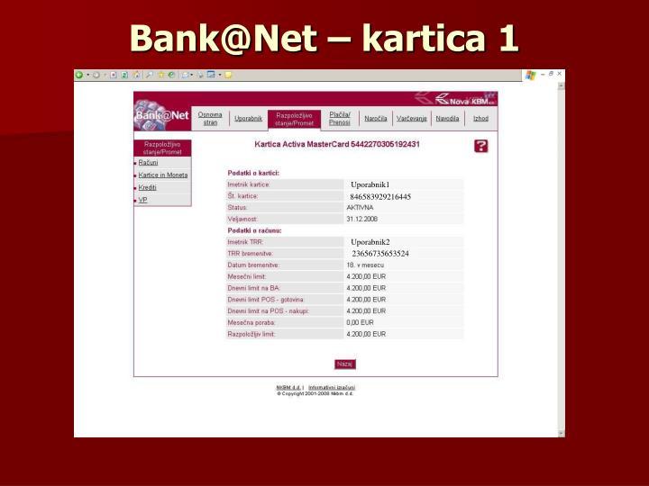 Bank@Net – kartica 1