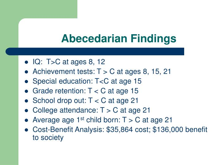 Abecedarian Findings