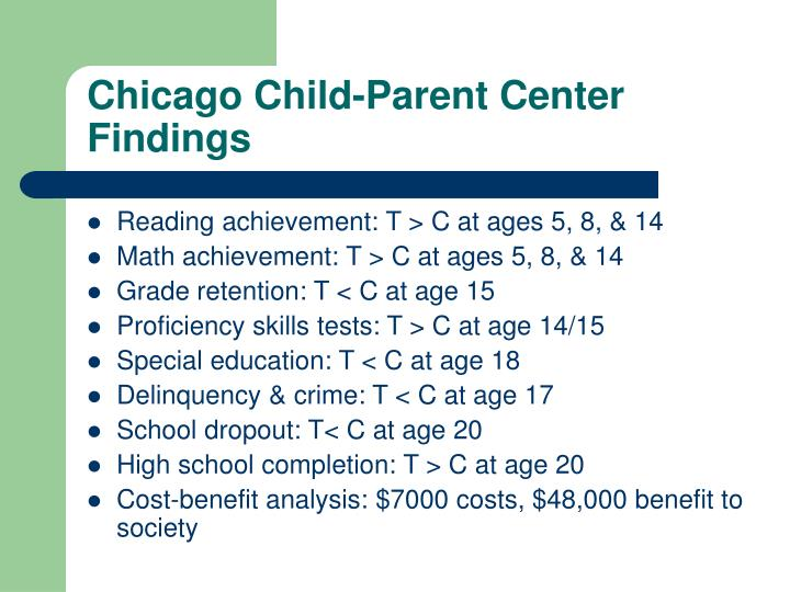 Chicago Child-Parent Center Findings