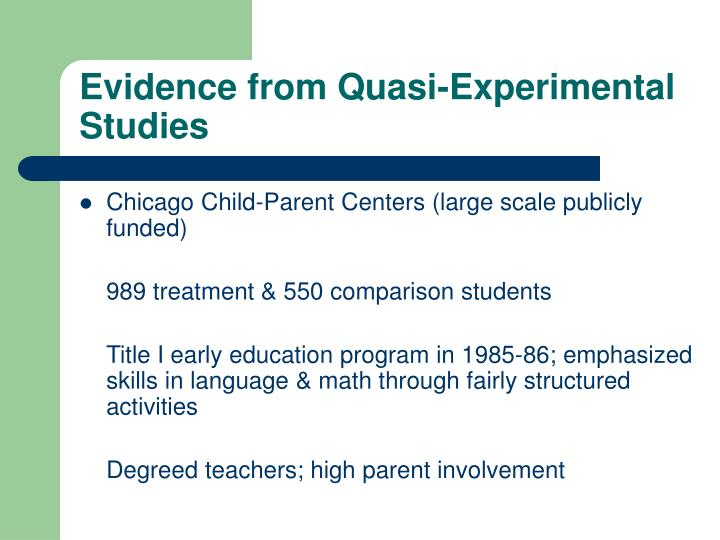 Evidence from Quasi-Experimental Studies