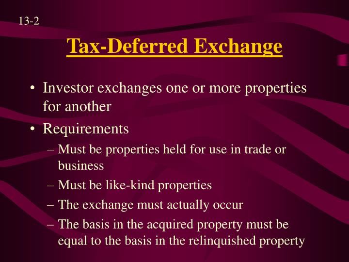 Tax deferred exchange l.jpg