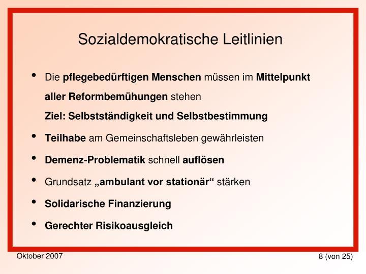 Sozialdemokratische Leitlinien