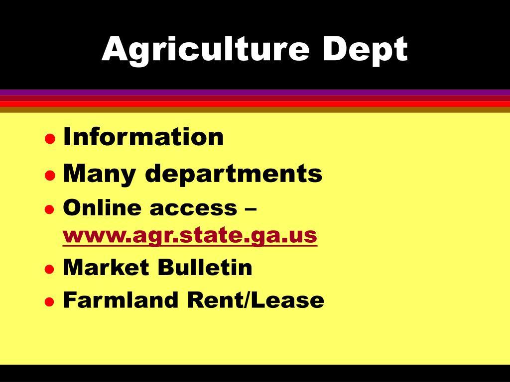 Agriculture Dept