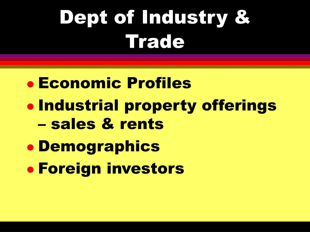 Dept of Industry & Trade