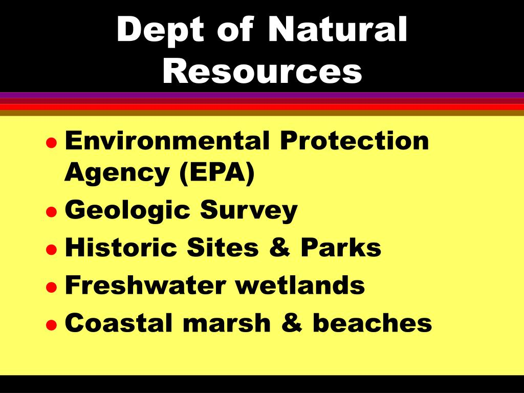 Dept of Natural Resources