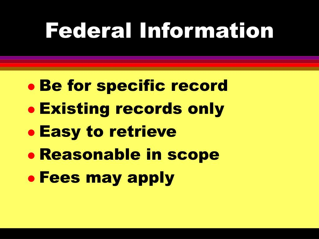 Federal Information