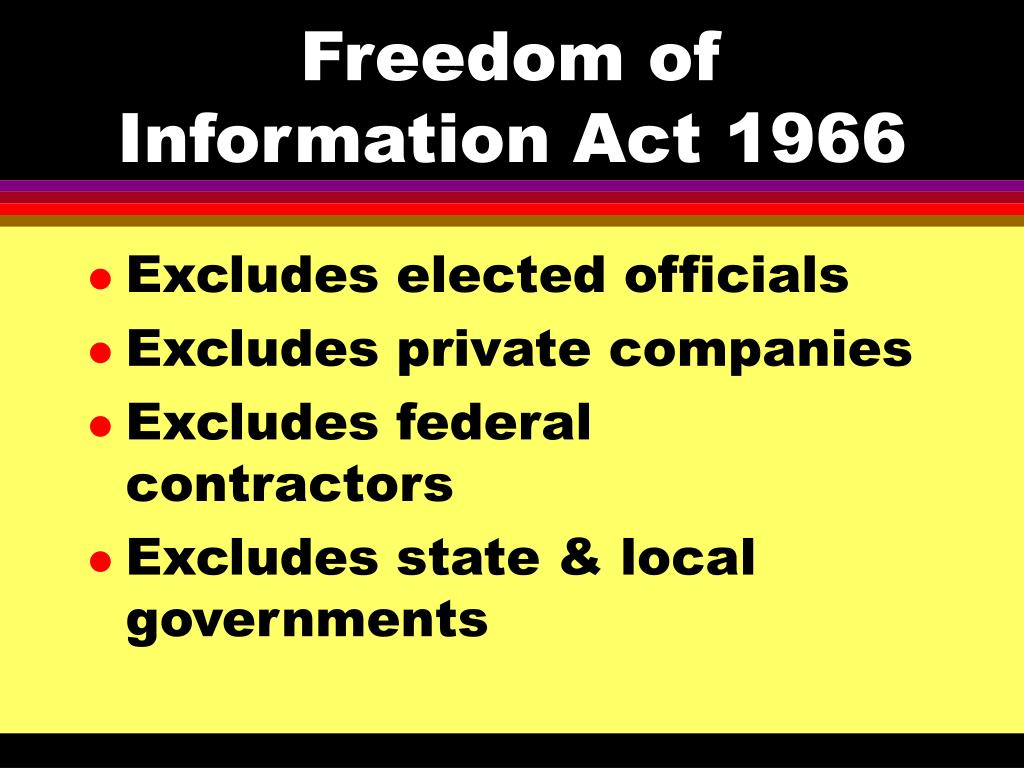 Freedom of Information Act 1966