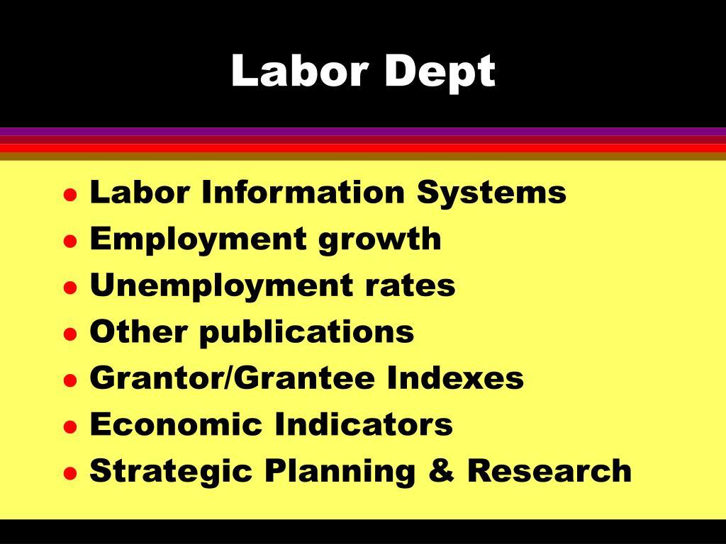 Labor Dept
