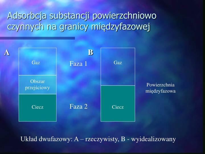Adsorbcja substancji powierzchniowo czynnych na granicy międzyfazowej