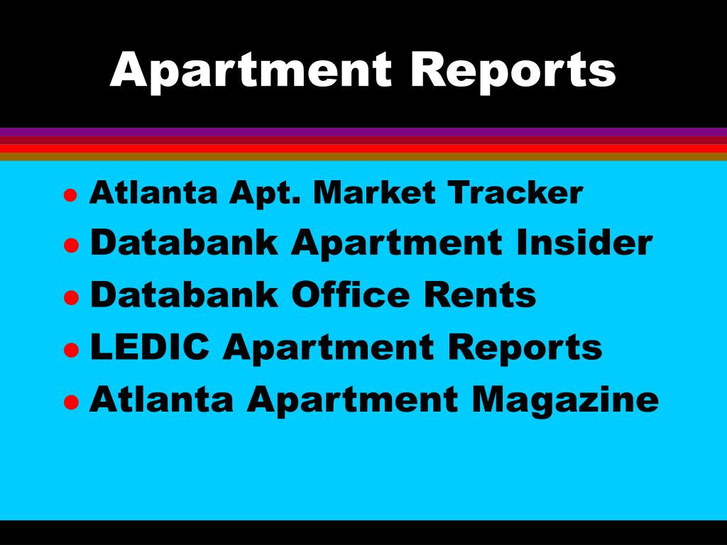 Apartment Reports