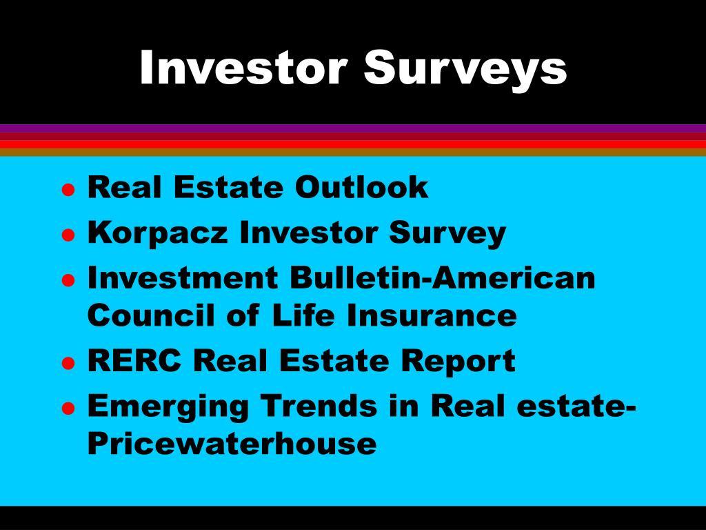 Investor Surveys