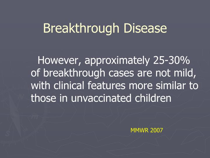 Breakthrough Disease