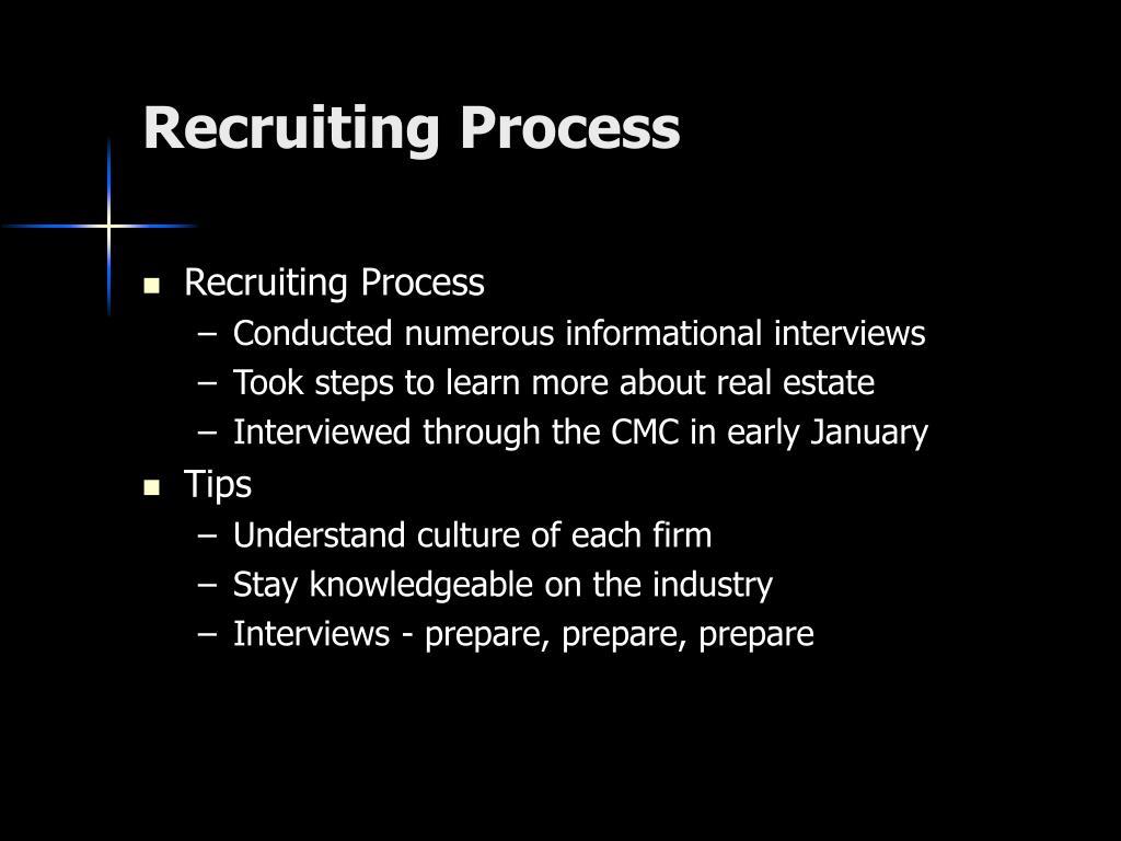 Recruiting Process