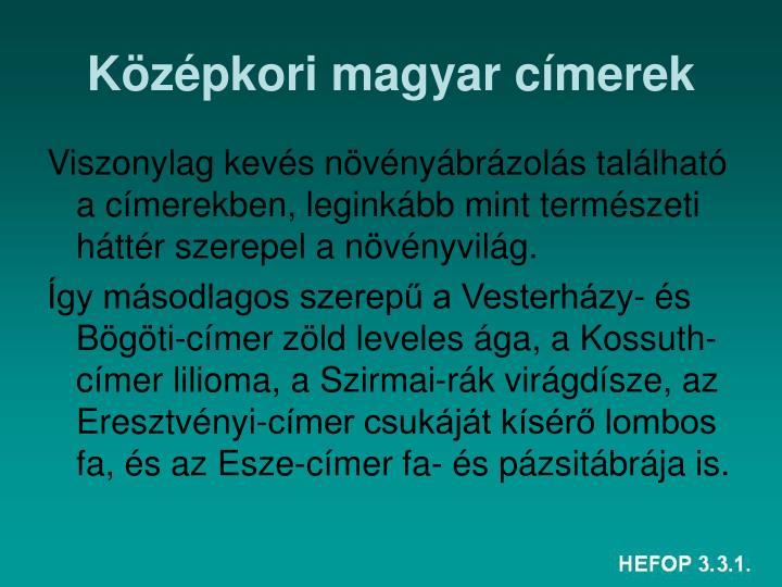 Középkori magyar címerek