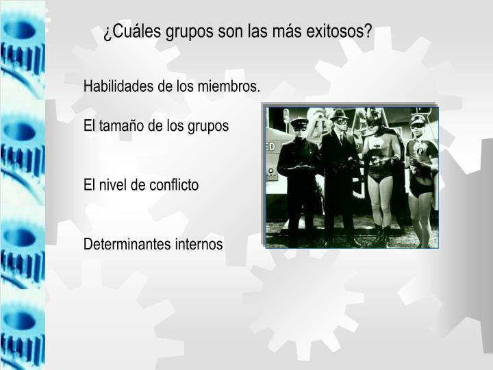 ¿Cuáles grupos son las más exitosos?