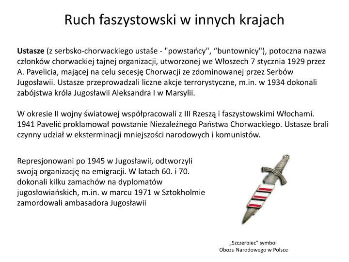 Ruch faszystowski w innych krajach