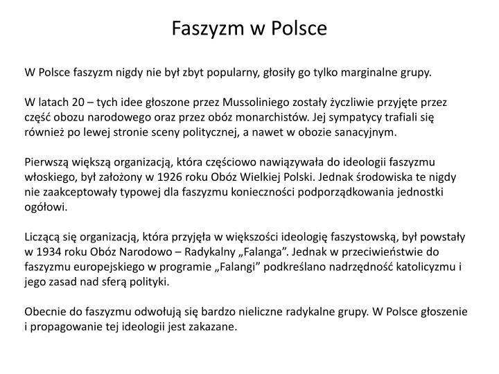Faszyzm w Polsce