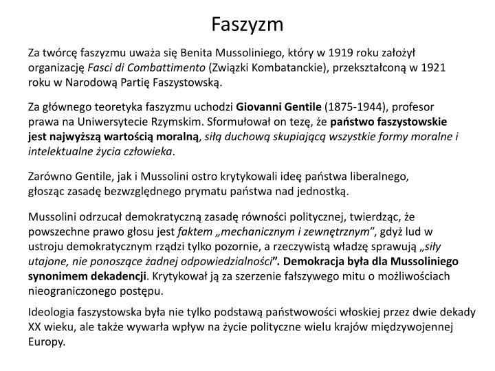 Faszyzm