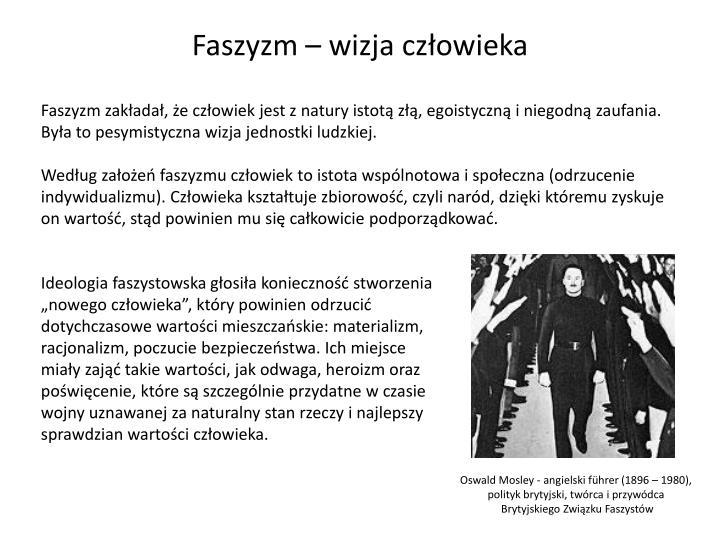 Faszyzm – wizja człowieka