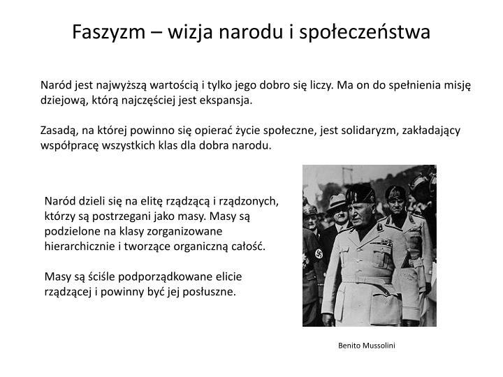 Faszyzm – wizja narodu i społeczeństwa