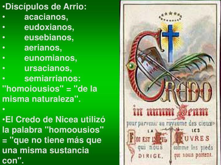 Discípulos de Arrio: