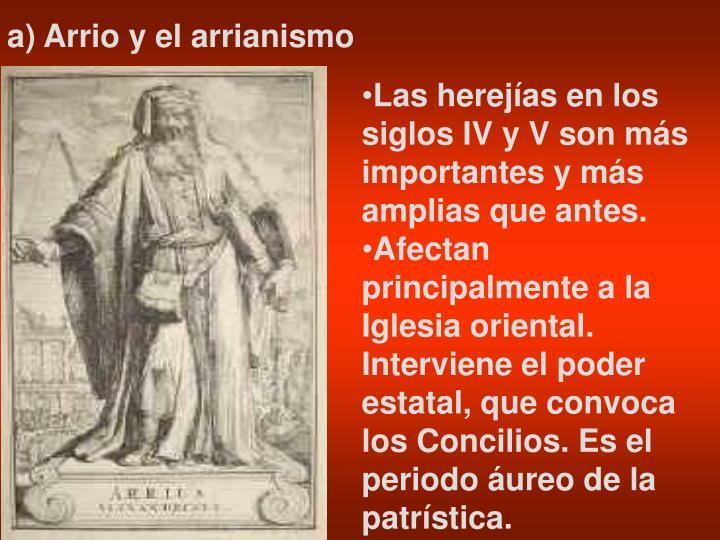 a) Arrio y el arrianismo