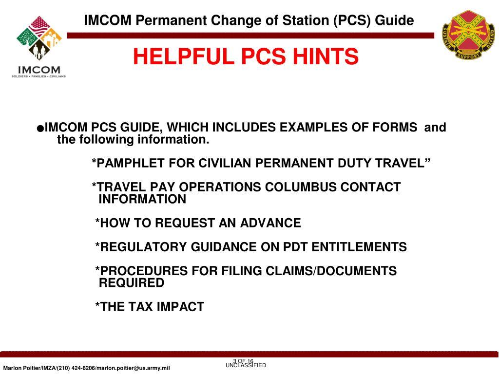 HELPFUL PCS HINTS