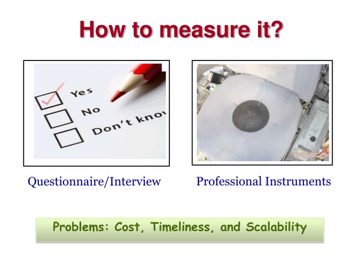 How to measure it