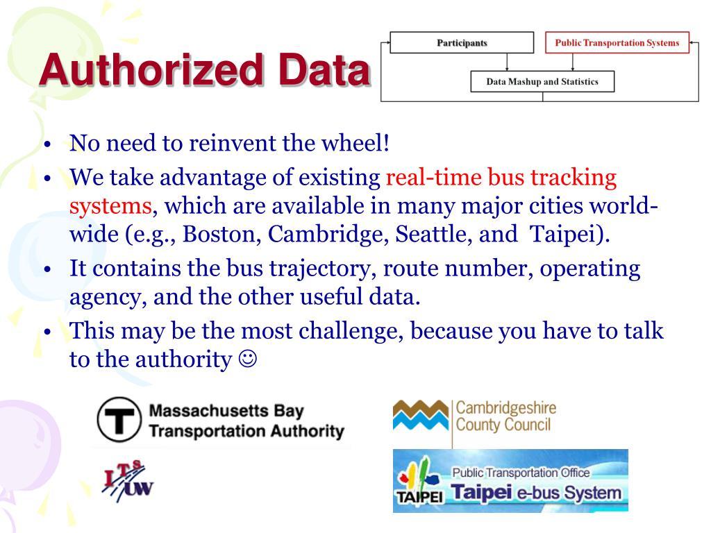 Authorized Data
