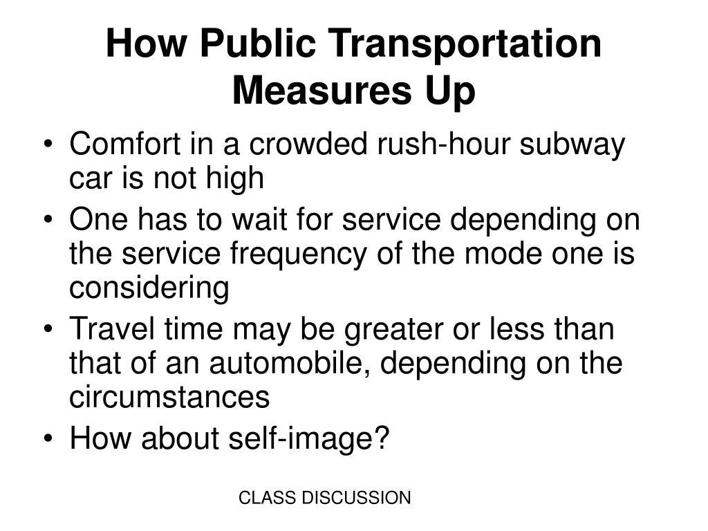 How Public Transportation Measures Up