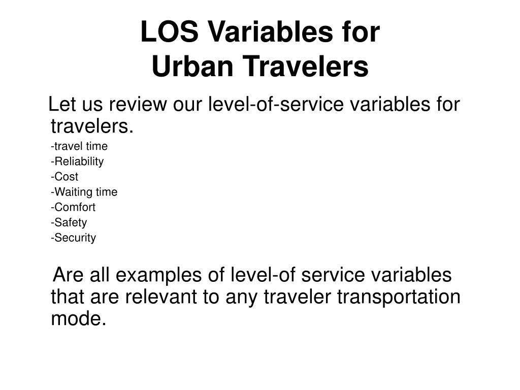 LOS Variables for