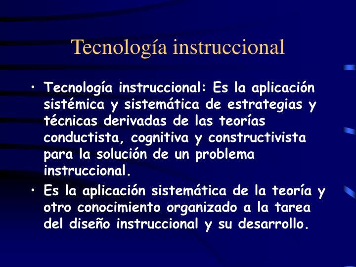 Tecnología instruccional